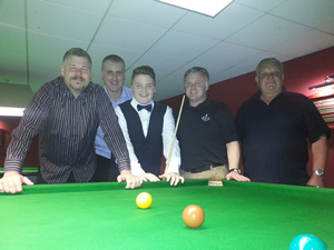 Team KO semi finalists Rugeley (l-r): Brian Tooth, Steve Rogers, Riley Parsons, Jamie Taylor, Dave Sykes