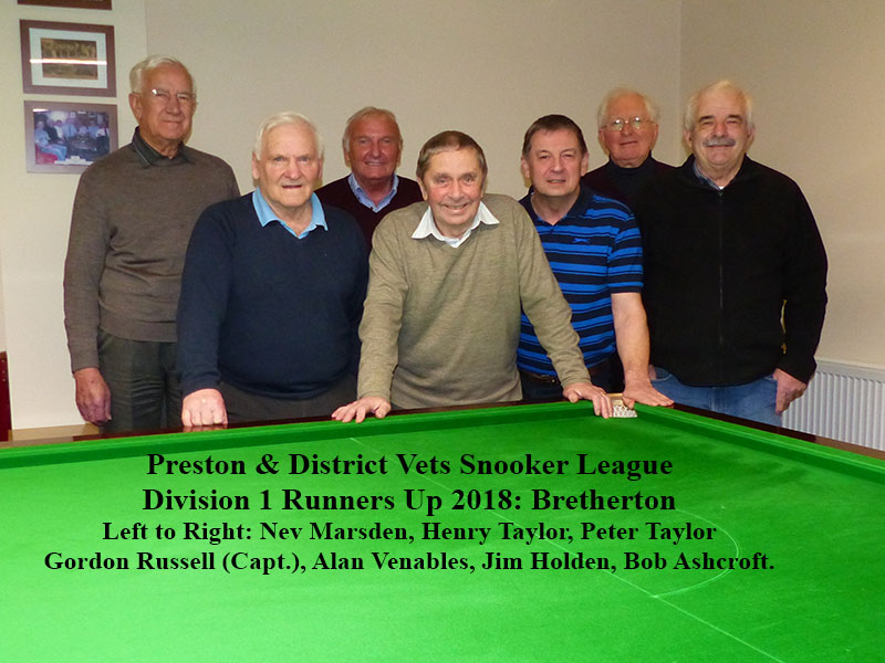 Division 1 Runners Up, Bretherton.