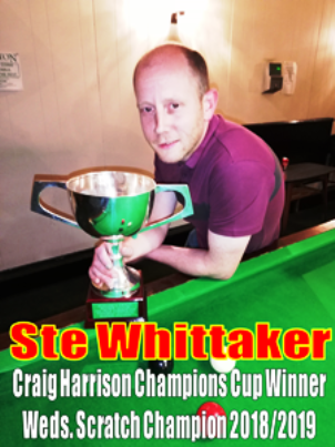 STE WHITTAKER (Holy Cross)  -  Craig Harrison Champions Cup Winner 2018/19