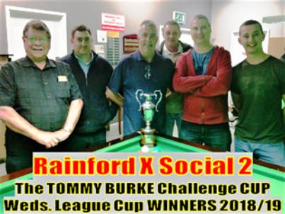 RAINFORD X SOCIAL 2  -  Tommy Burke Challenge Cup Winners 2018/19