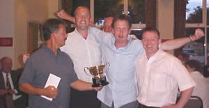 Neil Dale, Andy Prendergast, Mick Fox and Adrian Hughes - St. Leonards - Division 1 winners