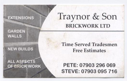 All Aspects of Brickwork/Stonework